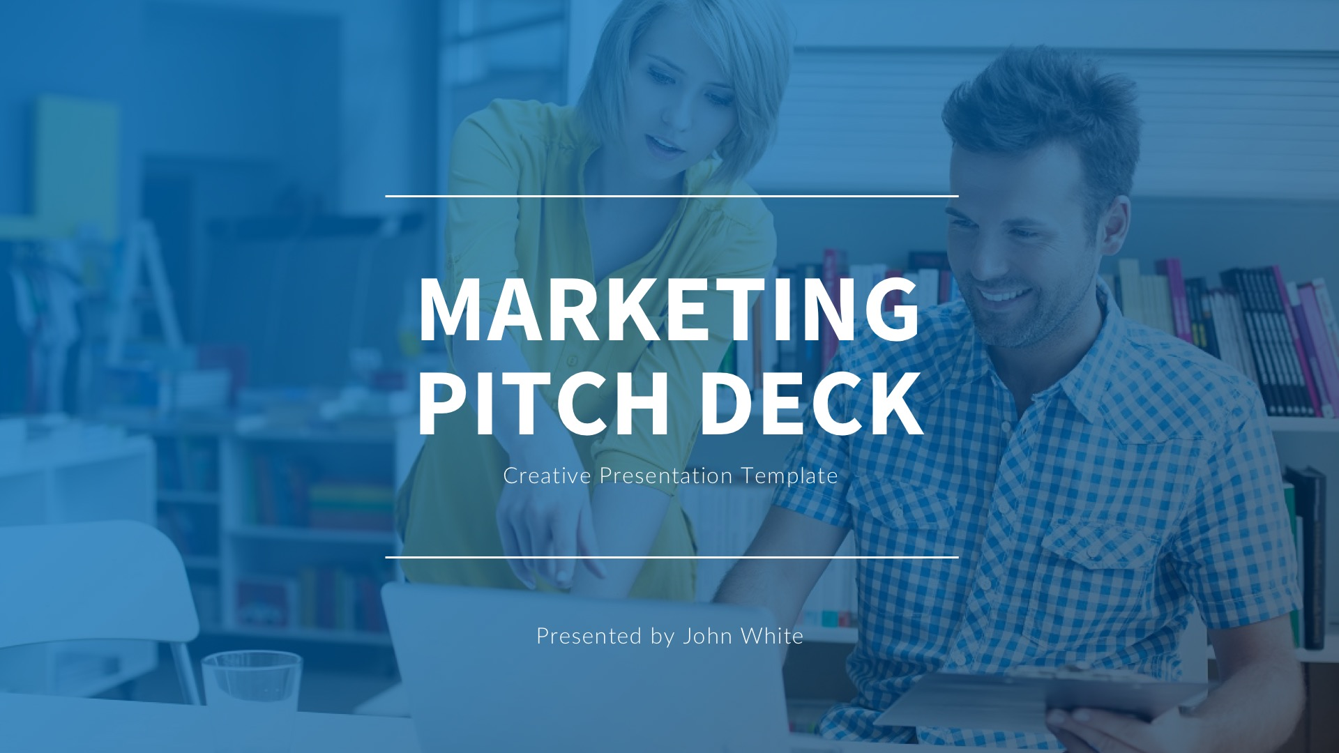 marketing pitch deck powerpoint template by slidefusion