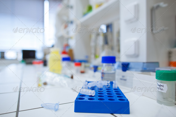 chemistry lab (shallow DOF) - Stock Photo - Images