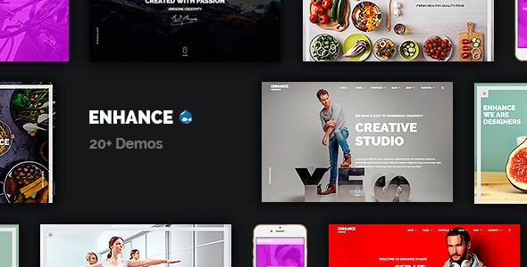 Enhance - Multi-Purpose Onepage & Multipage Drupal Theme - Business Corporate