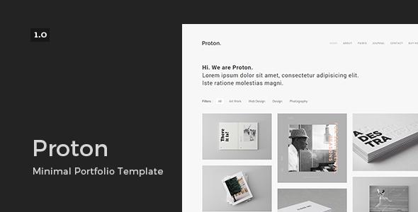 Proton – Minimal Portfolio Template