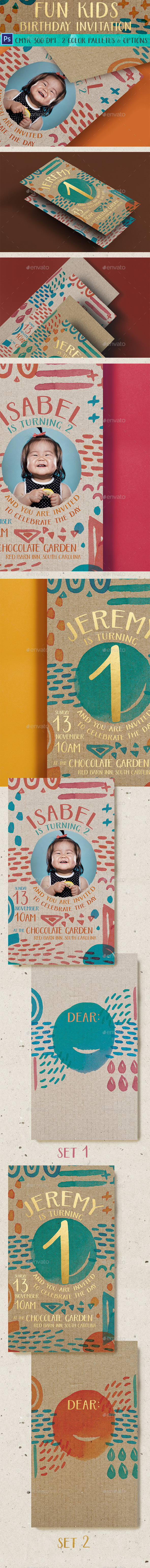 Fun Kids Birthday Invitation
