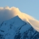 Aoraki, Mount Cook Face With Cloud Forming Over Mountain Peak On Sunrise - VideoHive Item for Sale