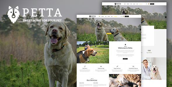Petta – Premium Pet Care WordPress Theme
