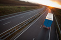 highway traffic - motion blurred truck on a highway/motorway/spe - PhotoDune Item for Sale
