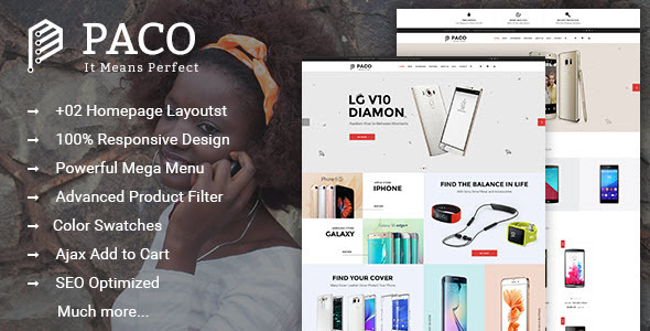 Paco – Responsive Multi-Purpose Magento 2 Theme