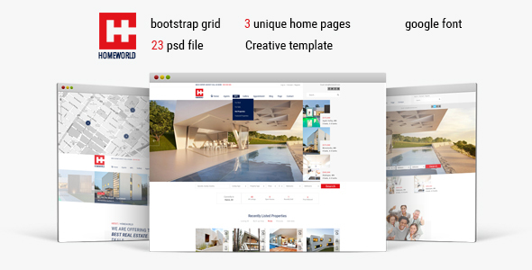 Homeworld - Real Estate HTML5 Template