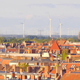 Berlin City Residential Area with Wind turbines in the Background - VideoHive Item for Sale