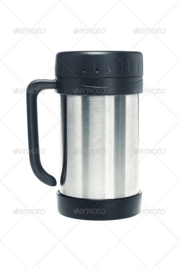 Thermos mug - Stock Photo - Images