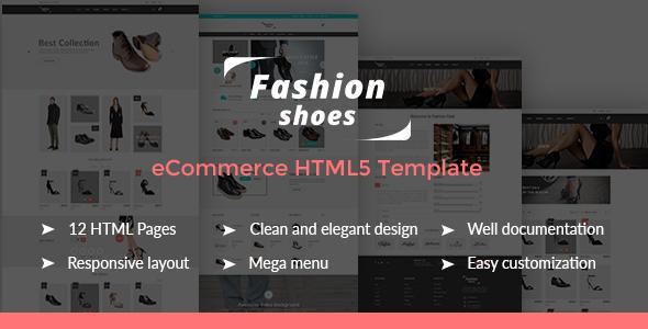 Fashion Shoes - eCommerce Shoe Template - Fashion Retail