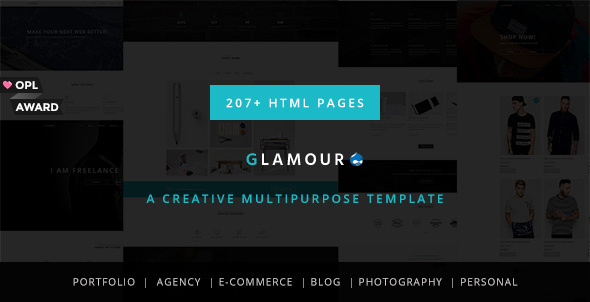 Glamour – Multipurpose OnePage & MultiPage Drupal Theme