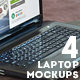 4 Room Interior Laptop Mockups - GraphicRiver Item for Sale