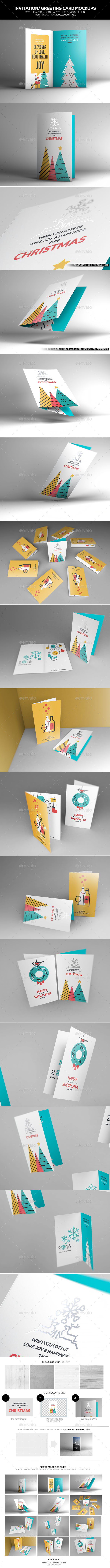 Invitation/ Greeting Card Mockups - Miscellaneous Print