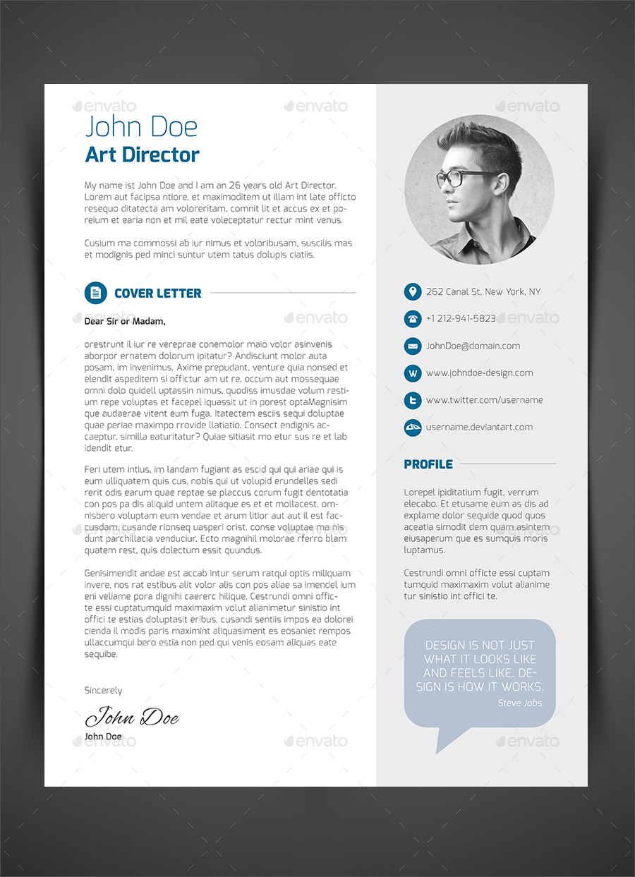 ... 3 Piece Resume CV Cover Letter Image Set/07_3 Piece Resume CV Cover  Letter ...  Cover Letter Or Resume