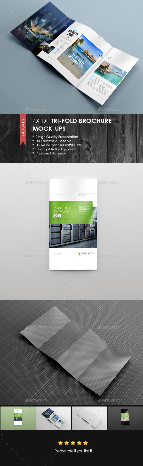 4xdl double gate fold brochure mock up 5 by 89pixel for Double gate fold brochure template