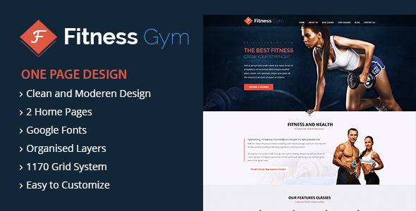 FItness - Gym Landing Page