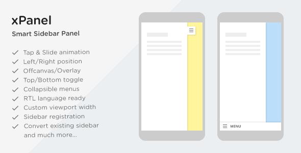 xPanel - Smart Sliding Panel and Sidebar Widget Area for WordPress Themes - CodeCanyon Item for Sale
