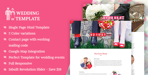 My Wedding - Wedding Invitation Template - Wedding Site Templates