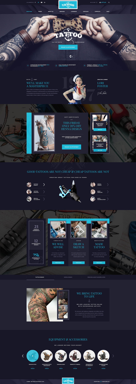 Ink Arts - Tattoo Salon PSD Template by mwtemplates | ThemeForest