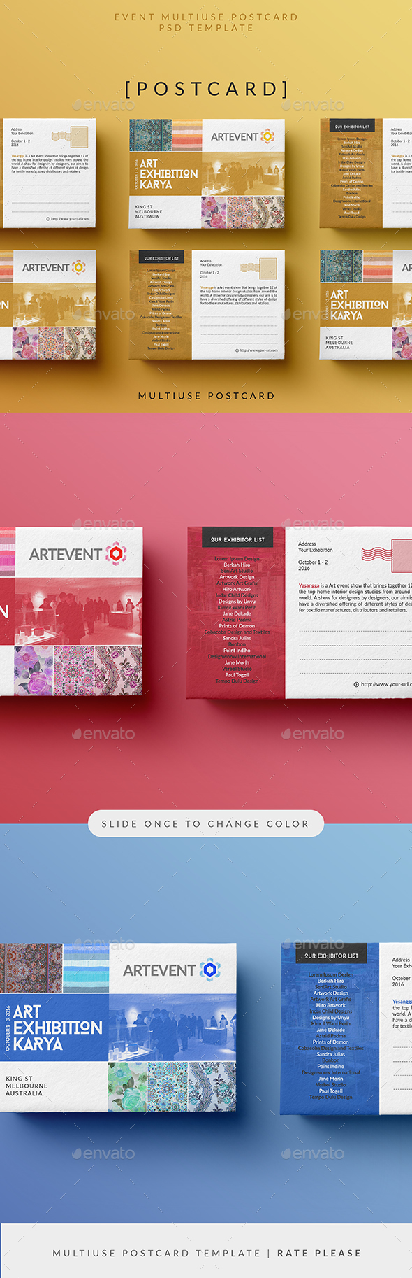 Simple Event Postcard - Cards & Invites Print Templates