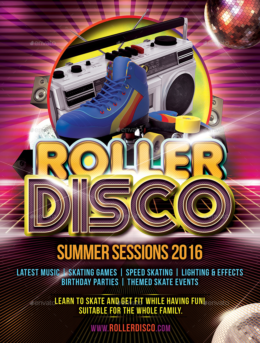 Roller Disco Flyer Template by DESIGNROOM1229 | GraphicRiver