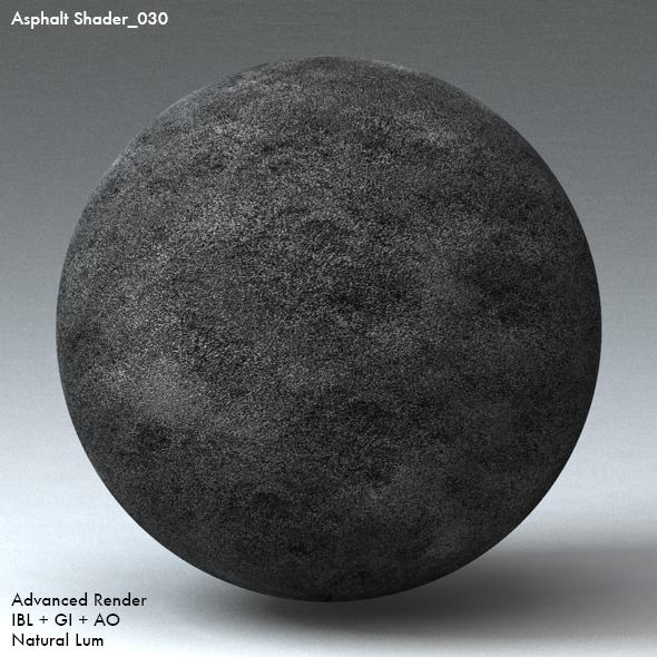 Asphalt Shader_030 - 3DOcean Item for Sale
