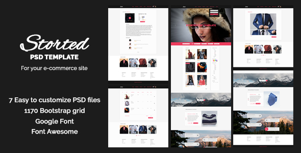 Storted – PSD Templates for Online Store