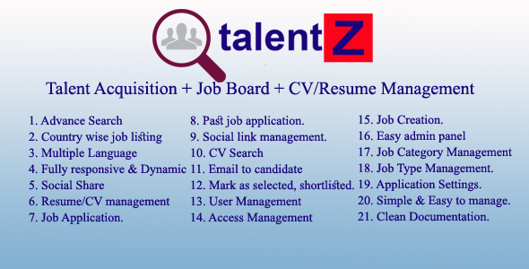 talentZ- a complete talent acquisition system - CodeCanyon Item for Sale