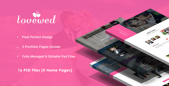 Lovewed - Event & Wedding PSD Template - Events Entertainment