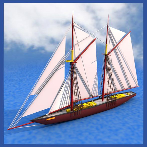 Bluenose Ship - 3DOcean Item for Sale