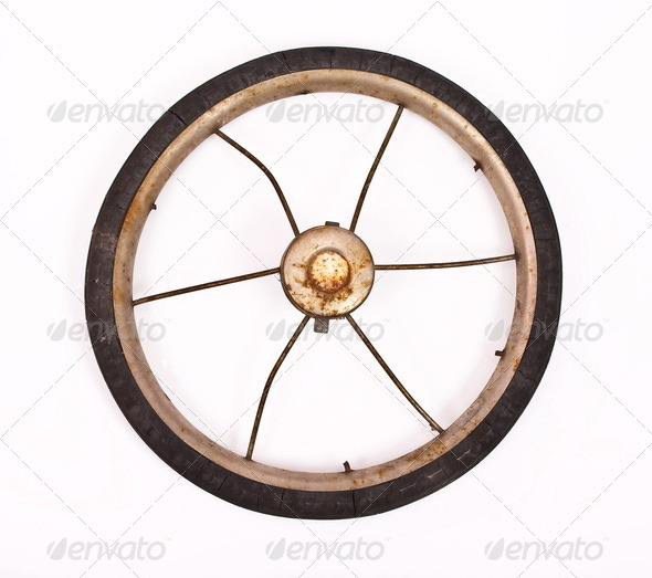 Old wheel - Stock Photo - Images
