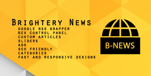 Brightery News portal & RSS Grapper - CodeCanyon Item for Sale