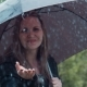 Happy Woman Playing With Rain Drops - VideoHive Item for Sale