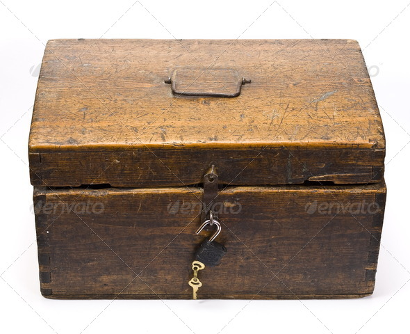 Old wooden coffer - Stock Photo - Images