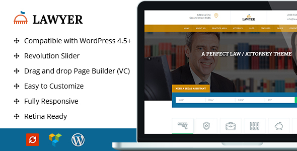 A Lawyer – Lawyer WordPress Theme