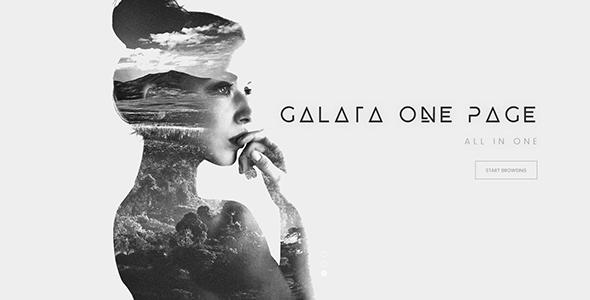 Galata Creative Onepage Psd Template