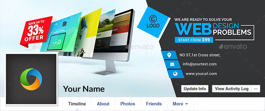 Web Design Facebook Cover - Image Included