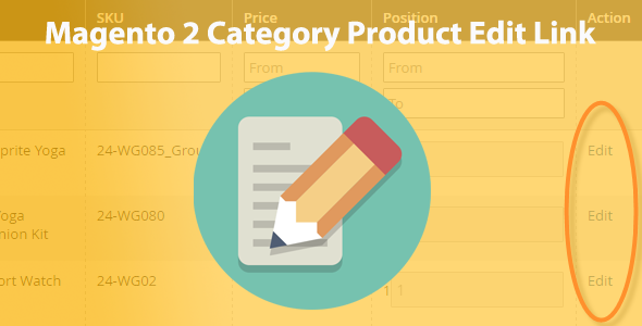 Magento 2 Category Product Edit Link - CodeCanyon Item for Sale