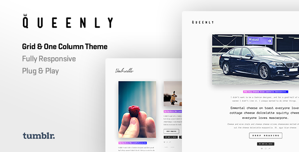 Queenly | Grid & One Column Tumblr Theme