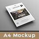 A4 poster / flyer mockup - GraphicRiver Item for Sale