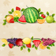 Delicious Fresh Fruits Background - GraphicRiver Item for Sale