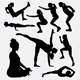 Physical Training Silhouettes - GraphicRiver Item for Sale