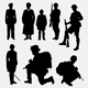 100 Soldier & Police Silhouettes - GraphicRiver Item for Sale