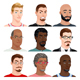 Different Male Avatars - GraphicRiver Item for Sale