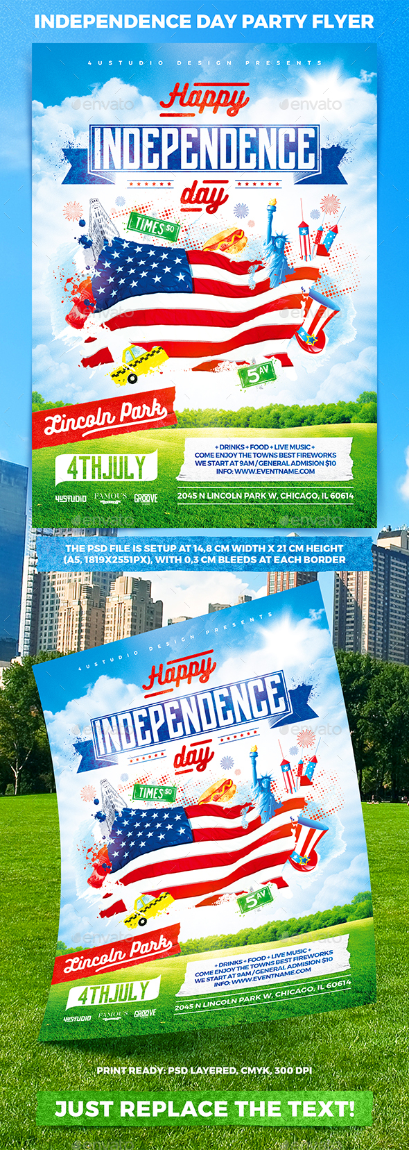 Independence Day Party Flyer - Holidays Events