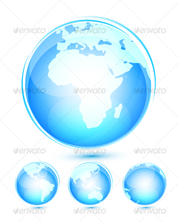 Earth icon set - Business Conceptual