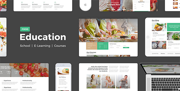 Education Food - Education Learning For Education Courses School PSD - Corporate PSD Templates