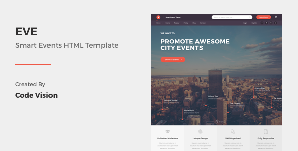 EVE – Events Directory & Listings HTML Template