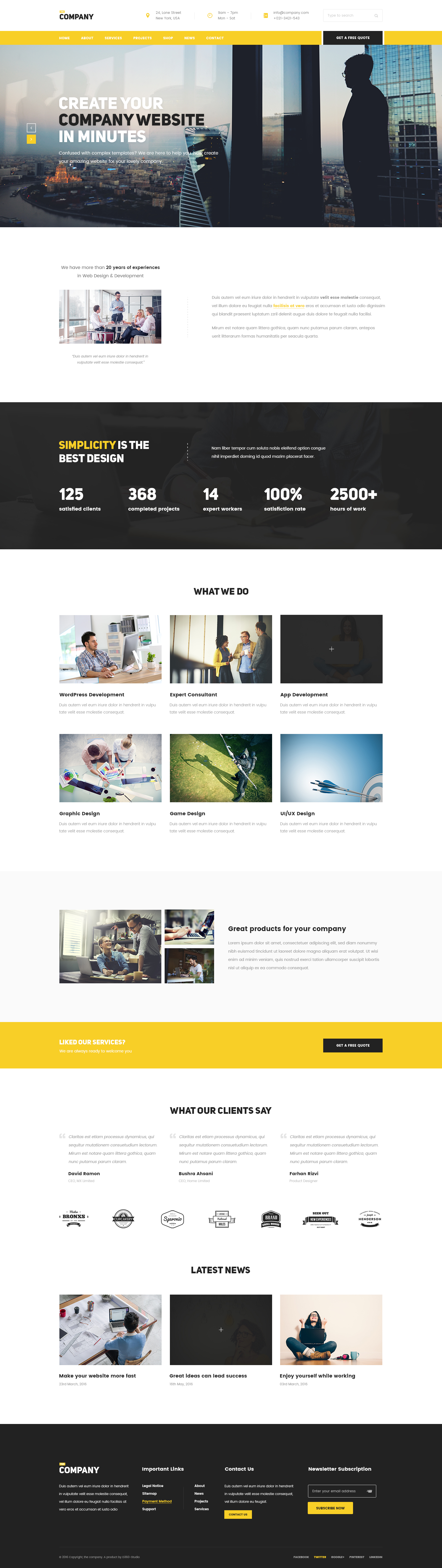 The Company Multipurpose PSD Template For Any Company By TeamDhrubok - Web development company website template