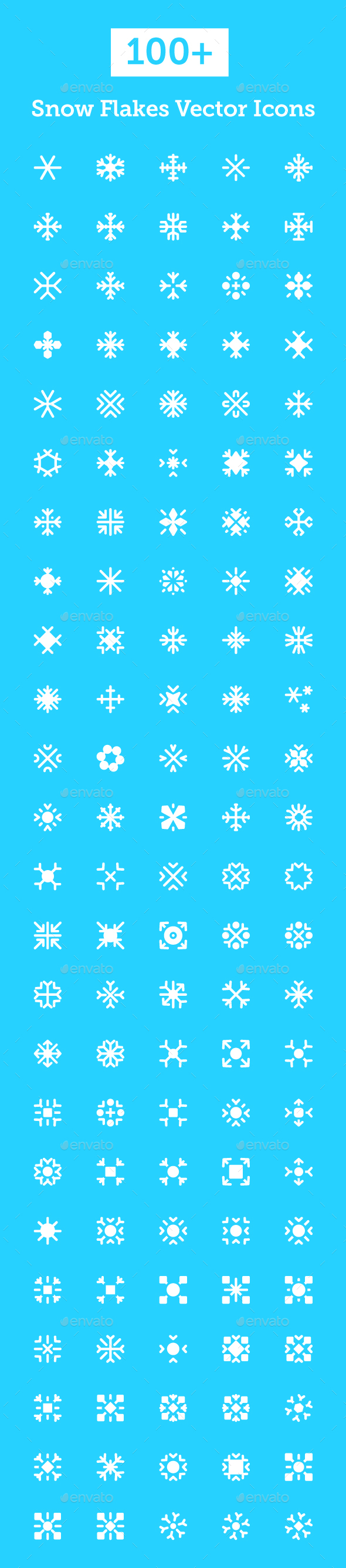 100+ Snowflakes Vector Icons  - Icons