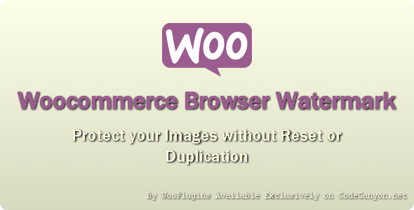 WooPlugins - Woocommerce Browser Watermark - CodeCanyon Item for Sale